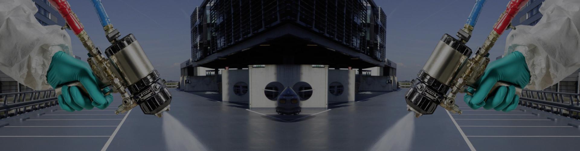 polimocznik i jego natrysk na dach